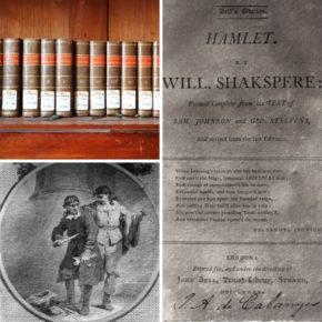 """Col·lecció """"Dramatic Works"""" de William Shakespeare a la biblioteca de la Masia"""