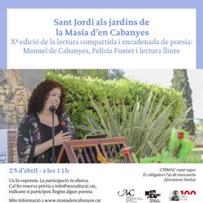 Sant Jordi a la Masia d'en Cabanyes. Xª Lectura compartida i encadenada de poesia