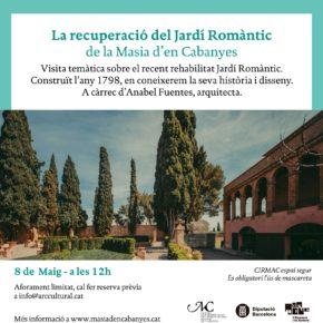 Visita temàtica sobre la recuperació del Jardí Romàntic de la Masia d'en Cabanyes