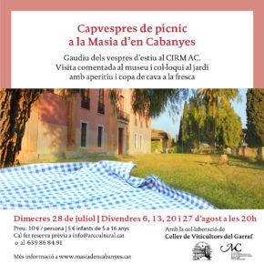 Capvespres de pícnic a la Masia d'en Cabanyes