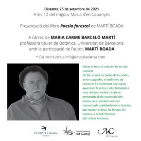 """Presentació del llibre """"Poesia forestal"""" de MARTÍ BOADA"""